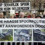 AGH protesteerde in Den Haag op het Binnenhof en Plein